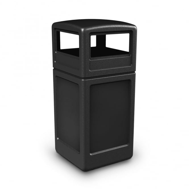 Square Hooded Top Litter Bins Cap: 140lt