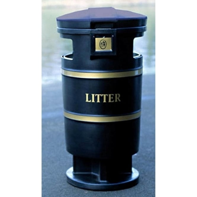 Squire Plastic Litter Bins with or without stubbing plate Cap: 94lt