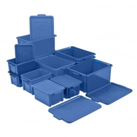 Stackable Containers with 'clip shut' lids
