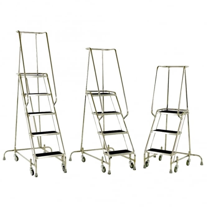 Stainless Steel Mobile Steps 3, 4 or 5 Tread