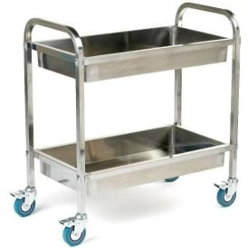 Stainless Steel Trolley with deep trays Cap: 100kg