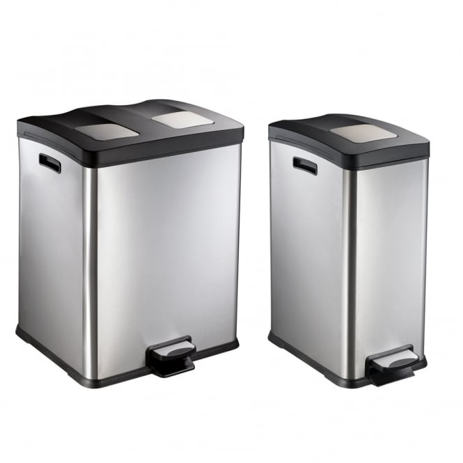 Stainless Steel Waste Separator Bins