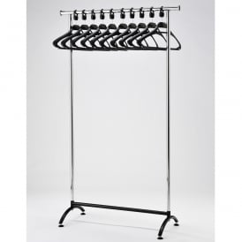 Static Garment Rail with Anti-theft Coat Hangers