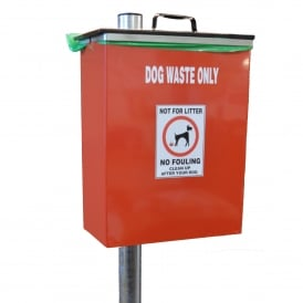 Steel Dog Waste Bin Cap: 40lt