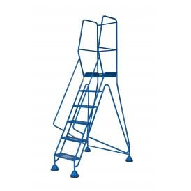 Steel Domed Feet Mobile Safety Steps Expanded Steel Treads