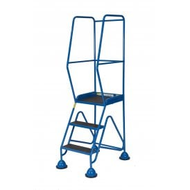 Steel Domed Feet Mobile Safety Steps Phenolic Treads