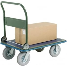 Steel Folding Platform Truck with puncture proof wheels Cap: 300kg