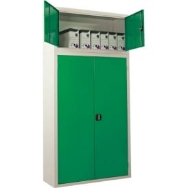 Steel Industrial Workplace Cupboards with top compartment