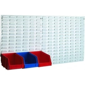 Steel Louvred Panels for INTERBIN Small Parts Picking Containers