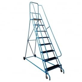 Steel Mobile Safety Steps 2 to 8 tread - Spring Loaded