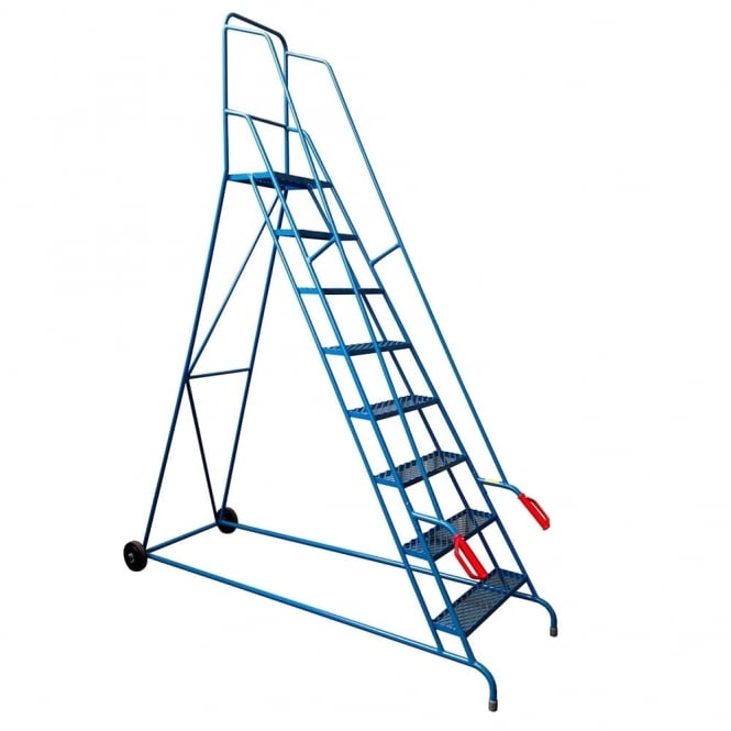 Steel Mobile Safety Steps 2 to 8 tread - Tilt & Push