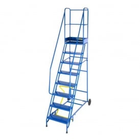 Steel Mobile Safety Steps with Punched Steel Treads 3 to 15 Tread