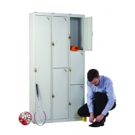 Steel Padlock Lockers - 450mm wide