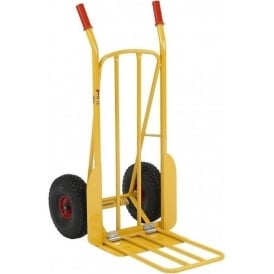 Steel Rough Terrain Sack Truck with dual foot-iron Cap: 250kg