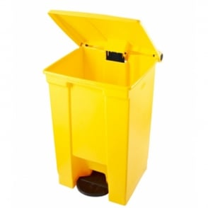 Step-on Container Waste Bins Cap: 87lt Yellow