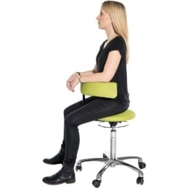 Stool with 360° Swivel Backrest