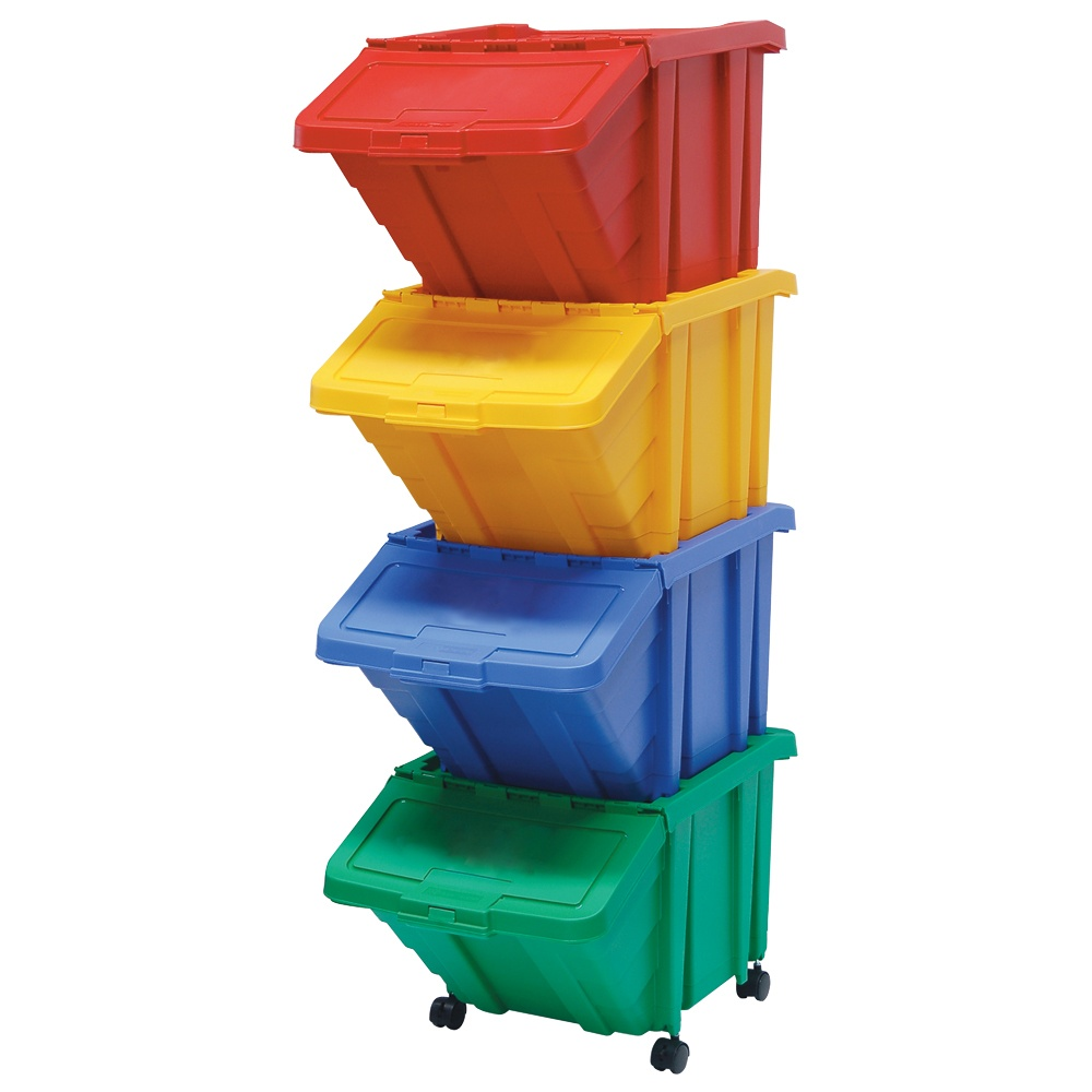 Storage Picking Bin With Hinged Lid Cap: 56lt