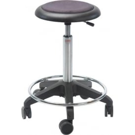 Swivel Stool with castors and foot-ring