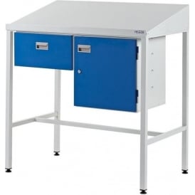Team Leader Work Stations with Single Drawer & Cupboard