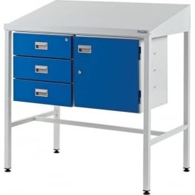 Team Leader Work Stations with Triple Drawer & Cupboard
