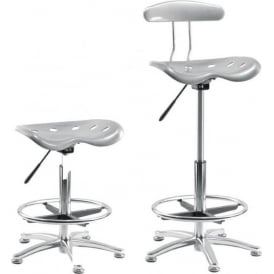 Tek Silver High-rise Draughtsman/Counter Chair or Stool