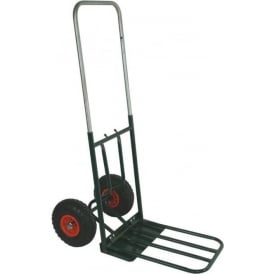 Telescopic Handle Sack Truck with dual foot-iron Cap: 90kg