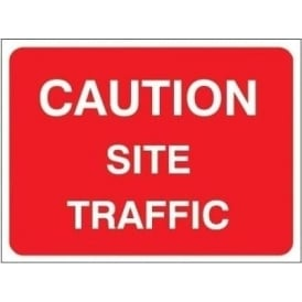 Temporary Roadwork Sign: CAUTION SITE TRAFFIC