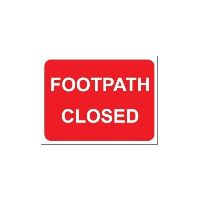 Temporary Roadwork Sign: FOOTPATH CLOSED