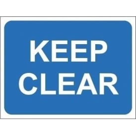 Temporary Roadwork Sign: KEEP CLEAR