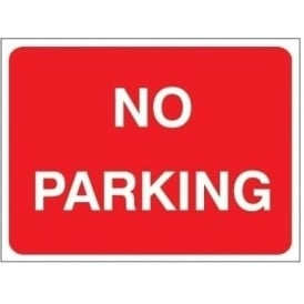 Temporary Roadwork Sign: NO PARKING