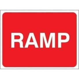 Temporary Roadwork Sign: RAMP