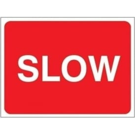 Temporary Roadwork Sign: SLOW