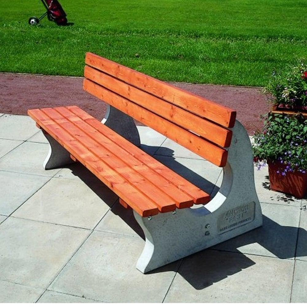 Timber Concrete Park Bench From Parrs Workplace Equipment Experts