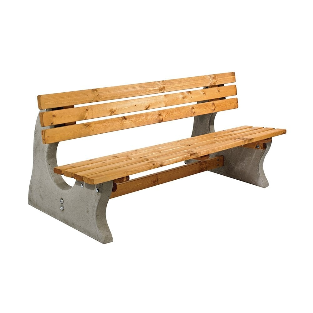 Marvelous Timber Concrete Park Bench Customarchery Wood Chair Design Ideas Customarcherynet