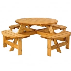 Timber Picnic Benches - Circular, Square or Rectangular