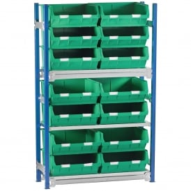 Toprax Shelving with 14 TOPSTORE Containers