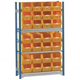 Toprax Shelving with 28 TOPSTORE Containers