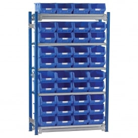 Toprax Shelving with 40 TOPSTORE Containers