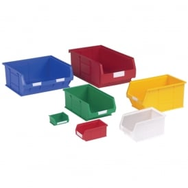 TOPSTORE Plastic Small Parts Picking Containers - Coloured