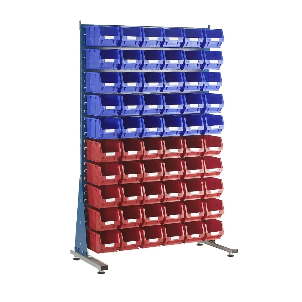 TOPSTORE Small Parts Storage Bins with Louvred Panel Unit PARRS