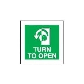 TURN TO OPEN - Right Sign