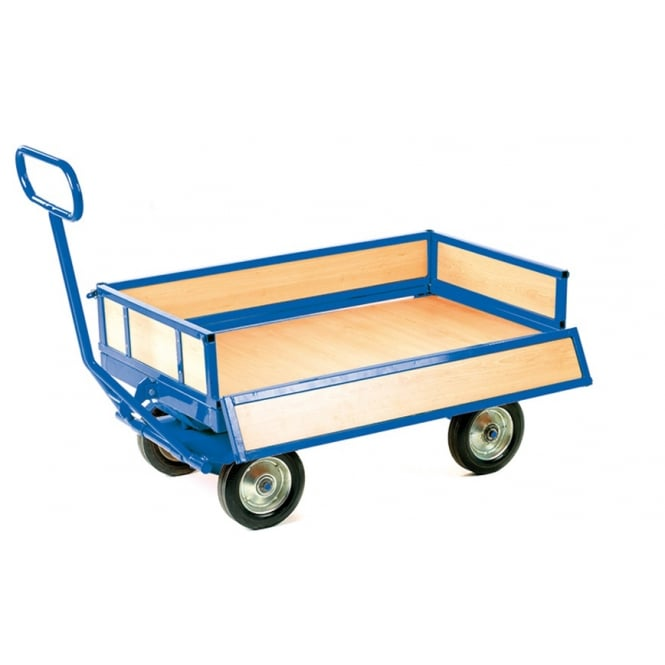 Turntable Platform Trucks with 4 drop down sides Cap: 700kg