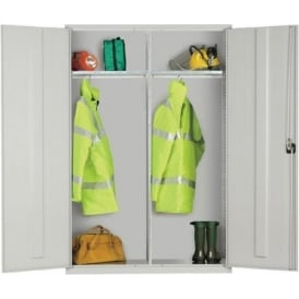 Twin Compartment Wardrobe Locker