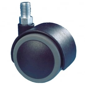 Twin Wheel Furniture Castors with threaded stem