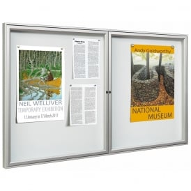 Vandal Resistant External Poster Frames with double doors