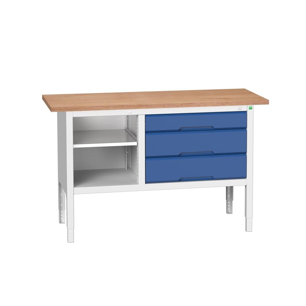 Verso 1500mm Wide Storage Workbench with 1 Shelf + 3 Drawers  sc 1 st  PARRS & Verso 1500mm Wide Storage Workbench with 1 Shelf + 3 Drawers ...