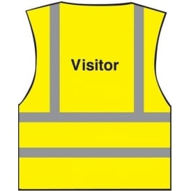 Visitor Printed Hi-visibility Waistcoat Vest