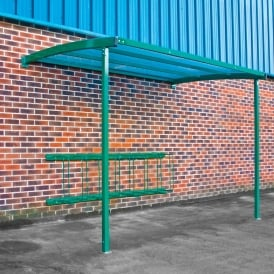 Wall Mounted Bike Shelter & Bike Rack
