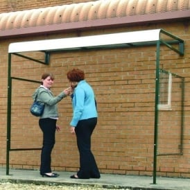 Wall Mounted Smoking Shelter with optional side panel
