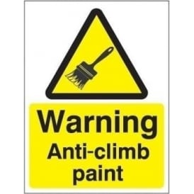 Warning anti-climb paint sign